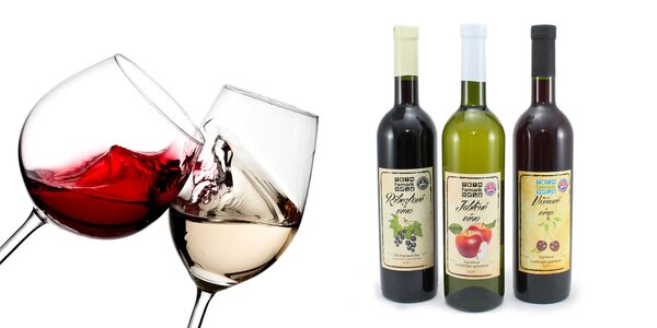 Kartón slovenských ovocných vín: 6 x 0,75 l