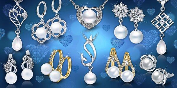 Perlová elegancia - náušnice aj náhrdelníky