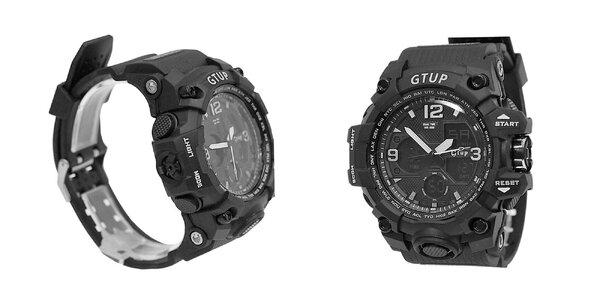 Pánske športové hodinky Gtup s duálnym časom
