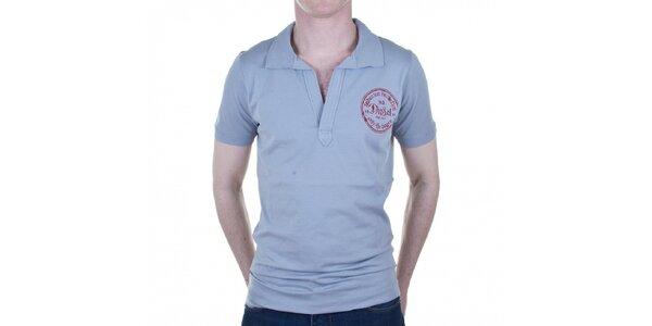 Pánske šedé tričko Diesel s potlačou