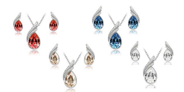 Zirkónový dámsky set náhrdelníka a náušníc