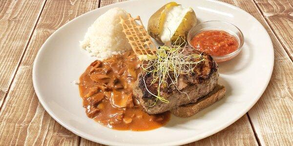 Steak s prílohou podľa výberu v Restaurant u Septima