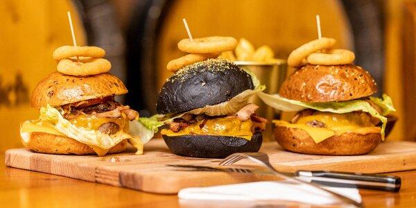 3 druhy burgerov v 5 prevádzkách. Burger aj s 24-karátovým zlatom!