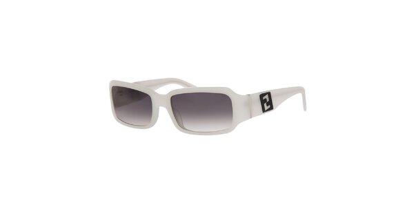 Dámske biele slnečné okuliare Fendi