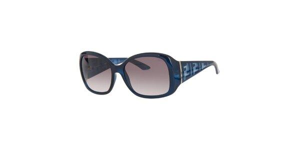 Dámske modré slnečné retro okuliare Fendi