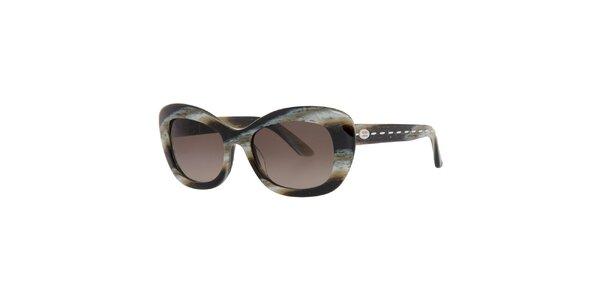 Dámske hnedo-žíhané slnečné okuliare Fendi