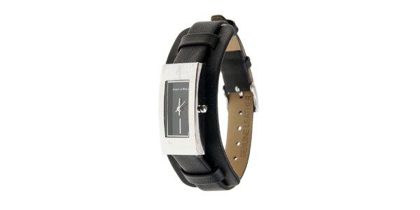 Dámske hodinky Marc O´Polo s čiernym koženým remienkom