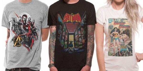 Dámske a pánske tričká s komiksovou potlačou
