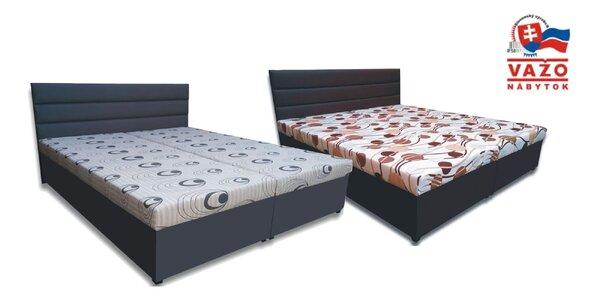 Kvalitná posteľ, rôzne matrace: vyrobené v SR