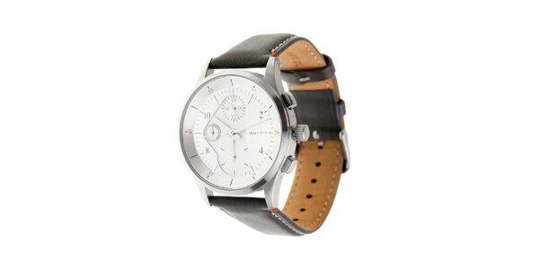 Pánske hodinky Marc O´Polo s tmavo šedým koženým páskom