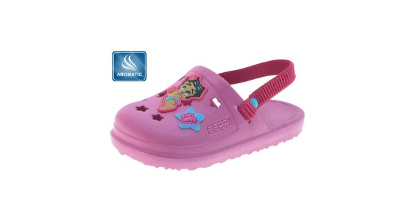 Detské ružové gumové papuče Beppi