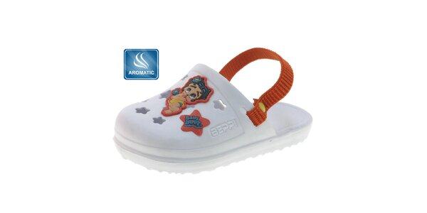 Detské biele gumové papuče Beppi