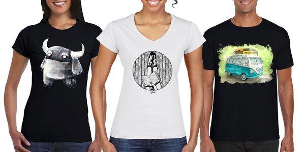 Jedinečné tričká s dizajnom od mladých umelcov