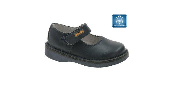 Detské tmavo modré kožené topánočky Beppi