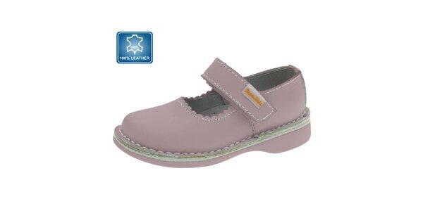 Detské ružové kožené topánočky Beppi
