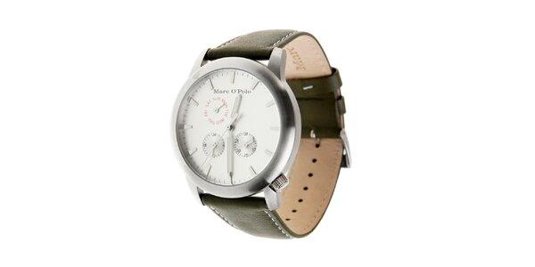 Pánske hodinky Marc O´Polo s čiernym koženým páskom