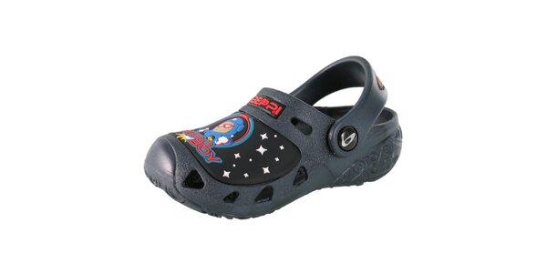 Detské tmavo modré papuče Beppi s kozmonautom