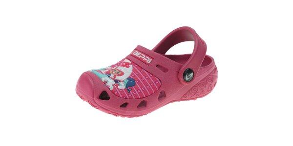 Detské ružové papuče Beppi s obrázkom