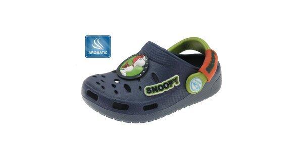 Detské tmavo modré papuče Beppi s vôňou