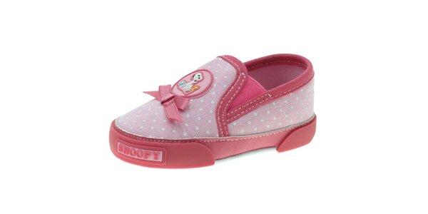 Detské ružové bodkované topánočky Beppi