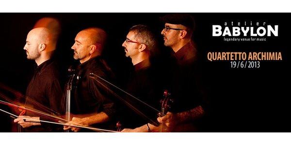 Vstupenka na koncert Quartetta Archimia