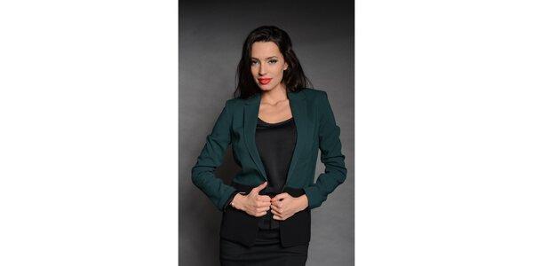 Dámske čierno-zelené sako Simonette