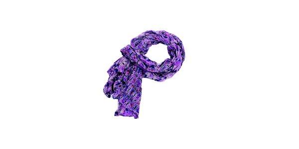 Dámska fialová šatka Fraas