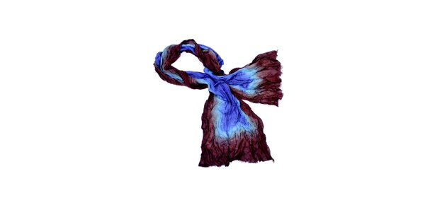Dámska hnedo-modrá šatka Fraas