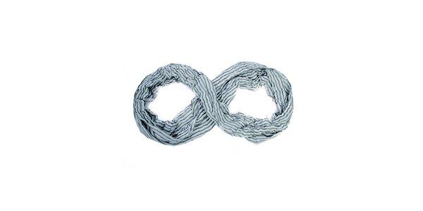 Dámska šedo-krémová kruhová šatka Fraas