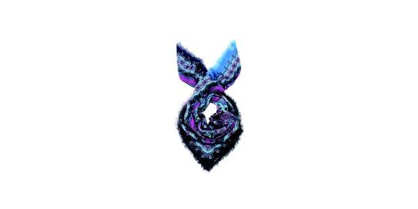 Dámska tyrkysovo-ružová vlnena šatka Fraas
