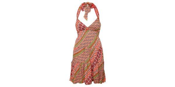 Dámske farebné šaty so zaväzovaním za krkom Guess