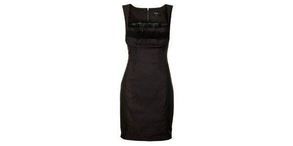 Dámske čierne puzdrové šaty Guess