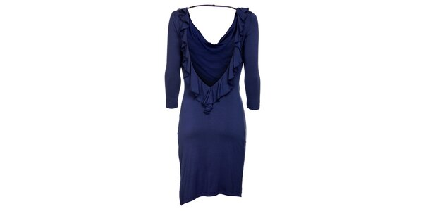 Dámske tmavo modré šaty Guess