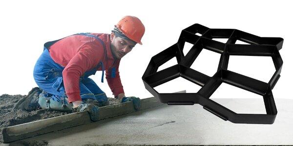 Praktická forma na betónový chodník