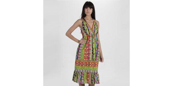 Dámske pestrofarebné šaty Peace&Love