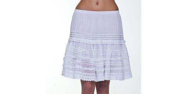 Dámska biela čipkovaná sukňa Peace&Love