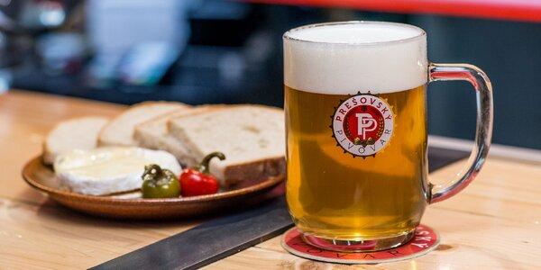 Kvalitné pivo a pochúťky v Prešovskej pivárni