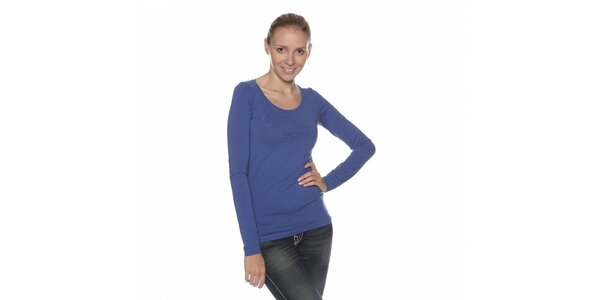 Dámske modré tričko Calvin Klein s kamienkami