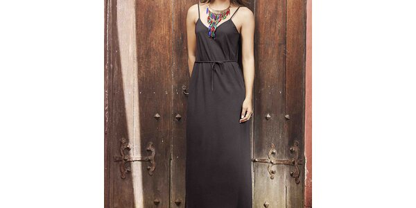 Dámske čierne plážové šaty Kibys