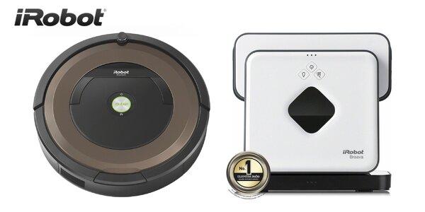 Robotický vysávač Roomba a robotický mop Braava