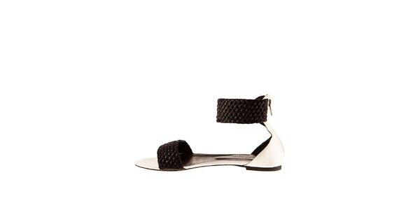 Dámske čierno-biele sandále Sandalo