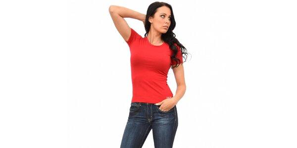 Dámske červené tričko Calvin Klein