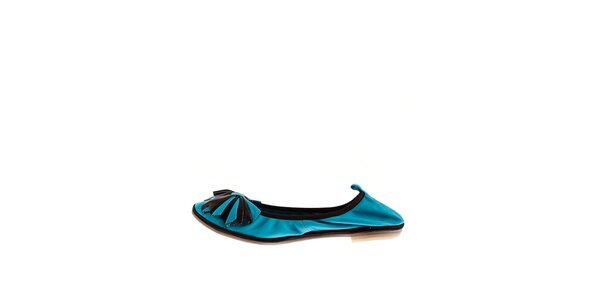 Dámske tyrkysové balerínky Sandalo s elastickým lemom