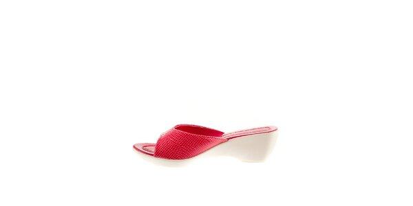 Dámske fuchsiové šľapky Sandalo