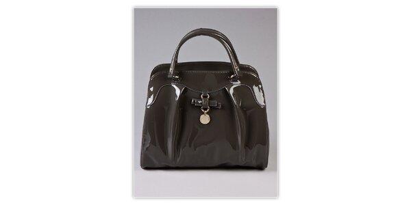 Dámska šedá lakovaná kabelka s visačkou Ferré Milano