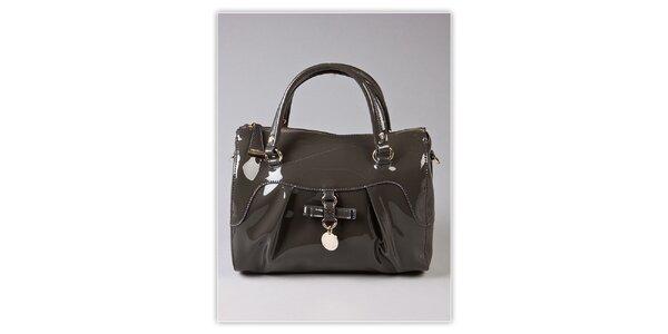 Dámska šedá lakovaná kabelka s odnímatelným popruhom Ferré Milano