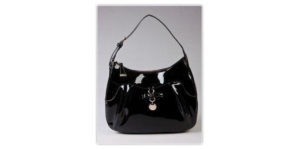 Dámska čierna lakovaná kabelka s visačkou Ferré Milano