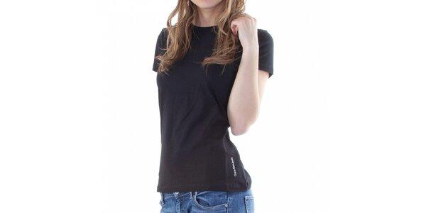 Dámske čierne tričko Calvin Klein
