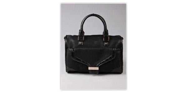 Dámska čierna kufríková kabelka Ferré Milano s kroko motívom