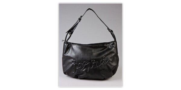 Dámska čierna hobo kabelka Ferré Milano s reliéfným logom